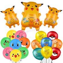 Pokemon balão sonho tema festa decoração suprimentos pikachu balão conjunto criança festa de aniversário bolso elf combinação balão presente