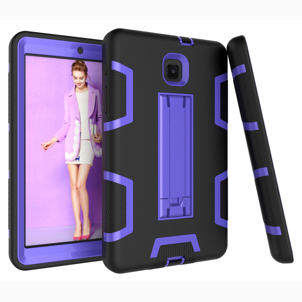 Heavy Duty Hybrid Safe For Samsung Tab A 8.0 2018 SM-T387 Case Tablet Sleeve Pouch Stand Cover Armor Anti-Knock Drop Resistance
