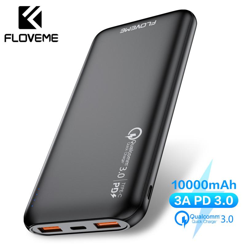 FLOVEME Quick Charger 3.0 Power Bank 10000Mah PD 3.0 Fast 18W Powerbank 10000 Mah External Mobile Battery For iPhone Xiaomi Fast title=