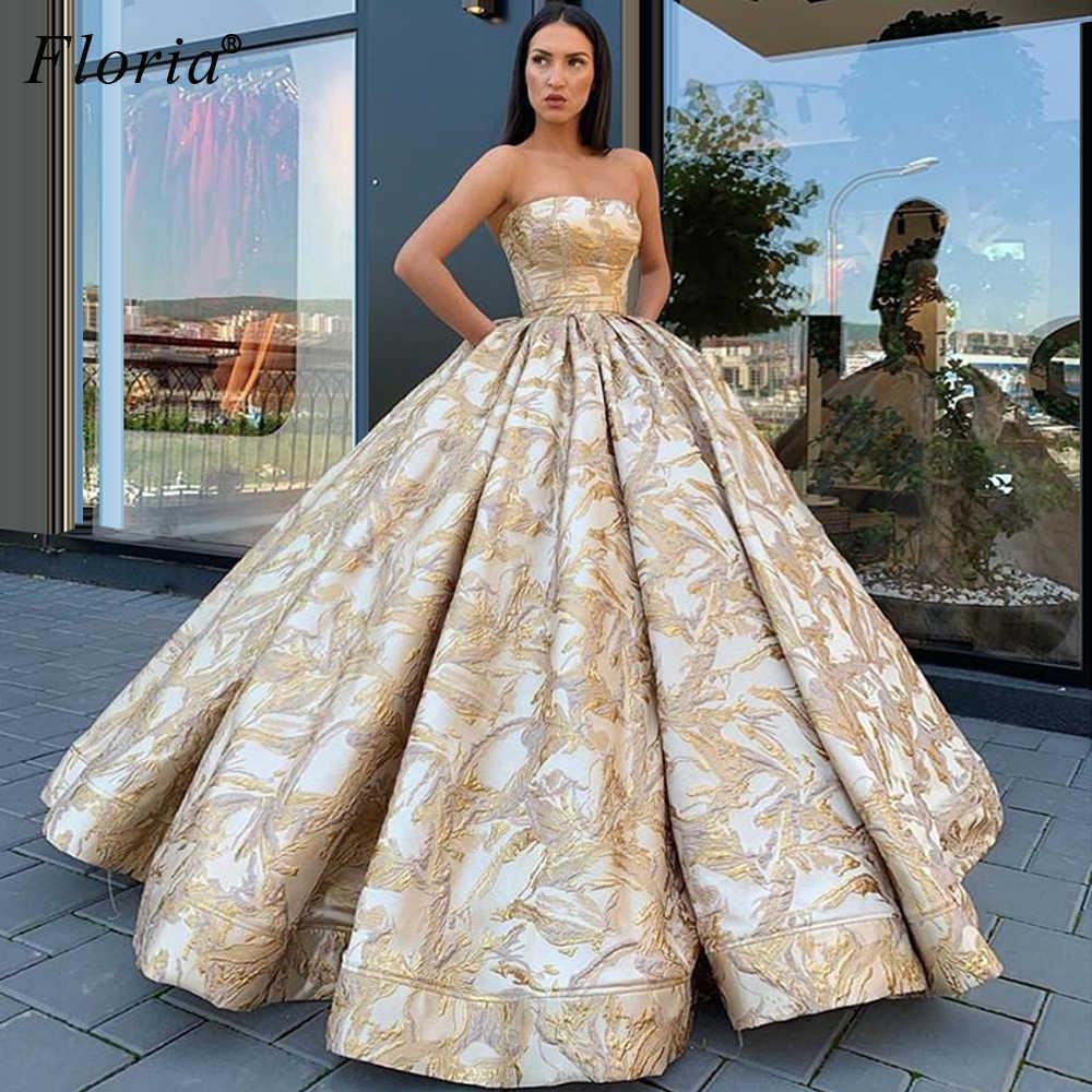 Ballkleid Arabisch Dubai Abendkleider Einzigartige Stoff