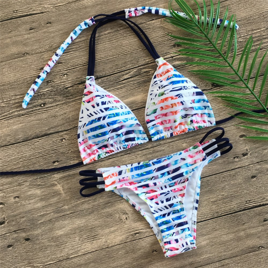 Floral print bikinis 2019 new swimwear women swimsuit beach bathing suit maillot de bain femme biquini Floral print bikinis 2019 new swimwear women swimsuit beach bathing suit maillot de bain femme biquini sexy brazilian bikini set