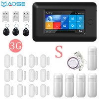 YAOSE 3G Wireless GPRS Security alarm System App Control TFT All Touch Screen For IOS Android WIFI alarm