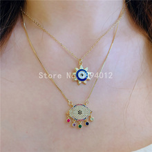 10pcs,Women Pendant Necklace, Fashion Jewelry, Pop Charms, Eyes Design,Gold colors,Can Wholesale,