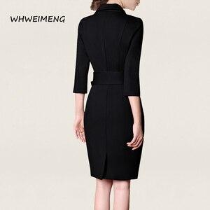 Image 5 - Gelegenheid Jurken 2020 Vrouwen Office Wear Zomer Jurk Formele Slijtage Voor Vrouwen V hals Elegant Robe Werk Jurk Vestidos