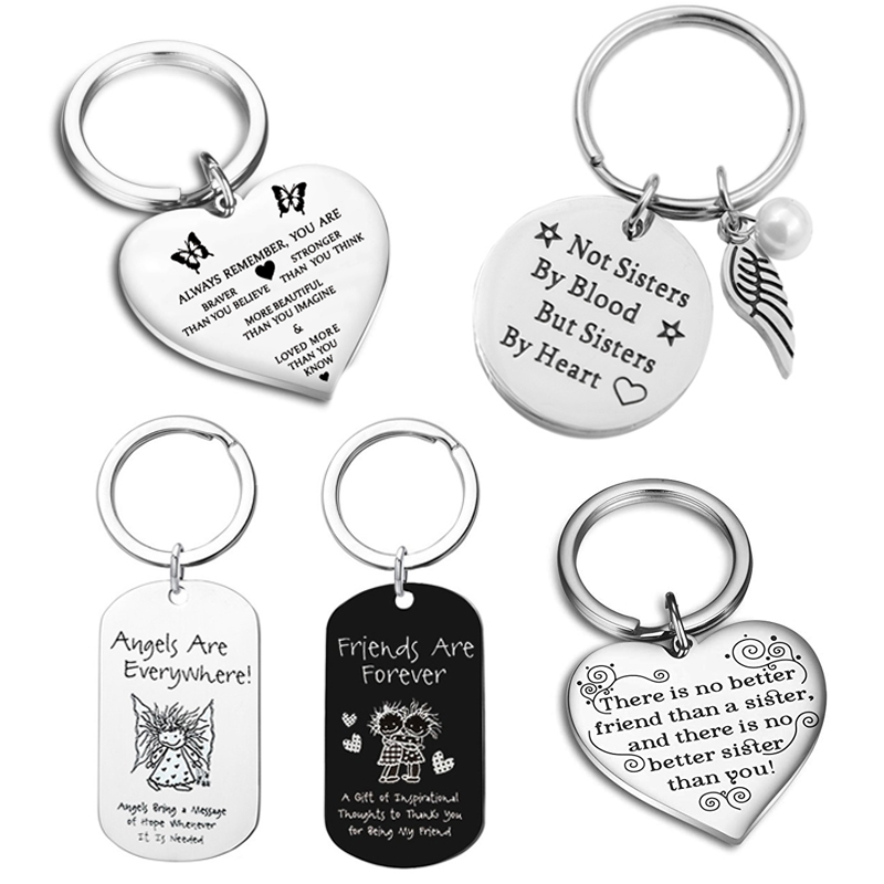 Best Friends Keychain Keyring