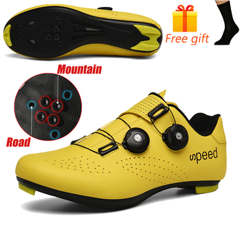 Discolor Cycling Shoes Man MTB Mountain Bike Shoes SPD Cleats Road Bicycle Shoes Sports Outdoor Training Cycle Sneakers 15