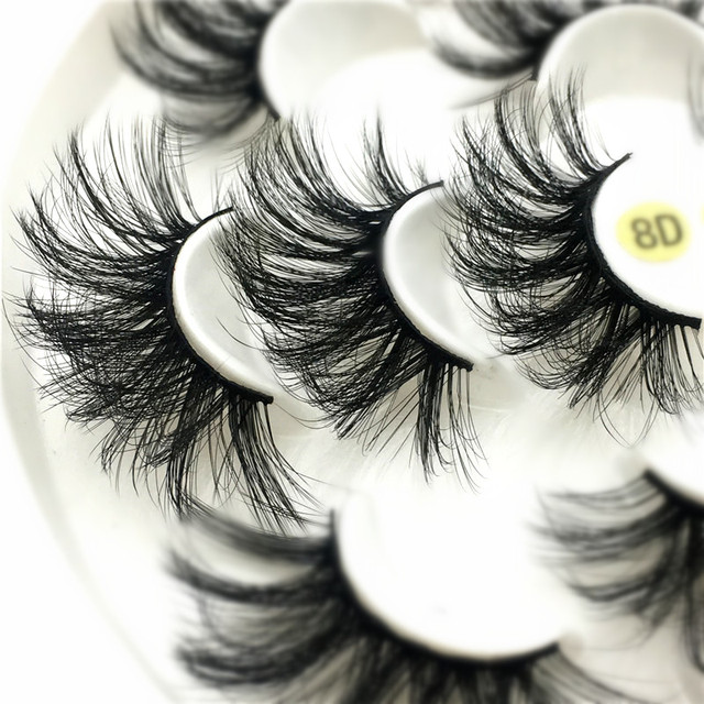 7 pairs 25 mm 3d mink lashes fluffy natural long false eyelashes,5 pairs Cruelty Free 22 mm 3d mink eyelashes Wholesale 1