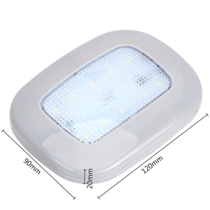 Image 5 - Auto Interior Light 10 LED Magnet Dome Light Universal Car Reading Light White Vehicle Roof Ceiling Lamp Trunk Lamp USB Charging