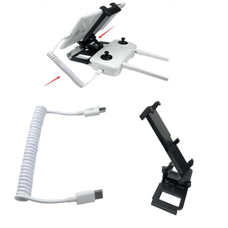 Hubson ZINO H117S RC Drone partes mando a distancia Tablet soporte de ordenador y conexión de resorte línea de datos