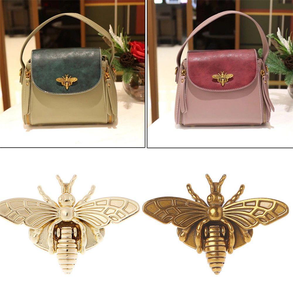 2020 Hot  New  Fashion New Bee Shape Clasp Turn Lock Metal Hardware For DIY Handbag Shoulder Bag Purse  Hot  2 Colors