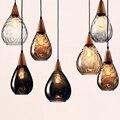 Скандинавская винтажная однорожковая люстра стеклянная лампа подвесная в ретро стиле для ресторана кафе освещение для бара дома Кухонные ...