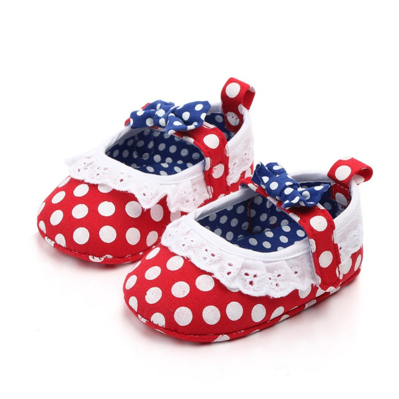 Baby Shoes Girls First Walkers Newborn Baby Girls Soft Shoes Soled Floral Printed Footwear Crib Shoes For Kids 2019 New