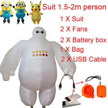 Inflatable Baymax Costume Big Hero Minion Anime Cosplay Halloween Baymax Costume For Kids Women Men Adult Pikachu Mascot Costume - Category 🛒 Novelty & Special Use