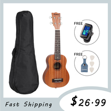 21 inch 15 Frets Soprano Ukulele Guitar Sapele 4 Strings Hawaiian Guitar Musical Instruments Mini Guitarra Gifts