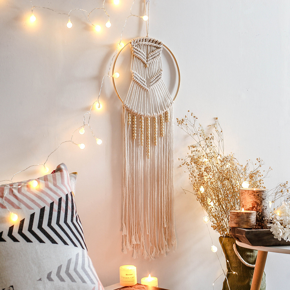 Macrame Bedroom Balcony Dreamcatcher Bohemian Wedding Wall Hanging Tapestry  Nordic Hand Woven Home Kid's Room Decor|Wind Chimes & Hanging Decorations|  - AliExpress