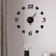 3d Diy Large Wall Clock Modern Design Silent Wall Sticker Clock Acrylic Mirror Self Adhesive Wall Clocks Living Room Home Decor