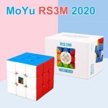 Moyu RS3M 2020 manyetik RS3M 3*3 sihirli bulmacalar hız küp mıknatıslar küp 3x3 Stickerless oyuncaklar çocuk
