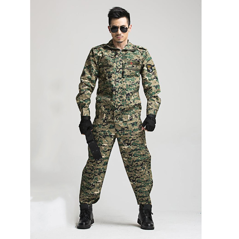 Airsoft Uniform Military Clothes Paintball Equipment Tactical Army Pants Costume Army tshirt Long Sleeve Men Adult Training Pant 2