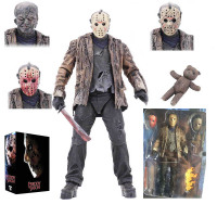 18cm 2019 New Type Original NECA Freddy vs Jason FVJ Ultimate Jason Voorhees Action Figure Toy Doll Christmas Birthday Gift