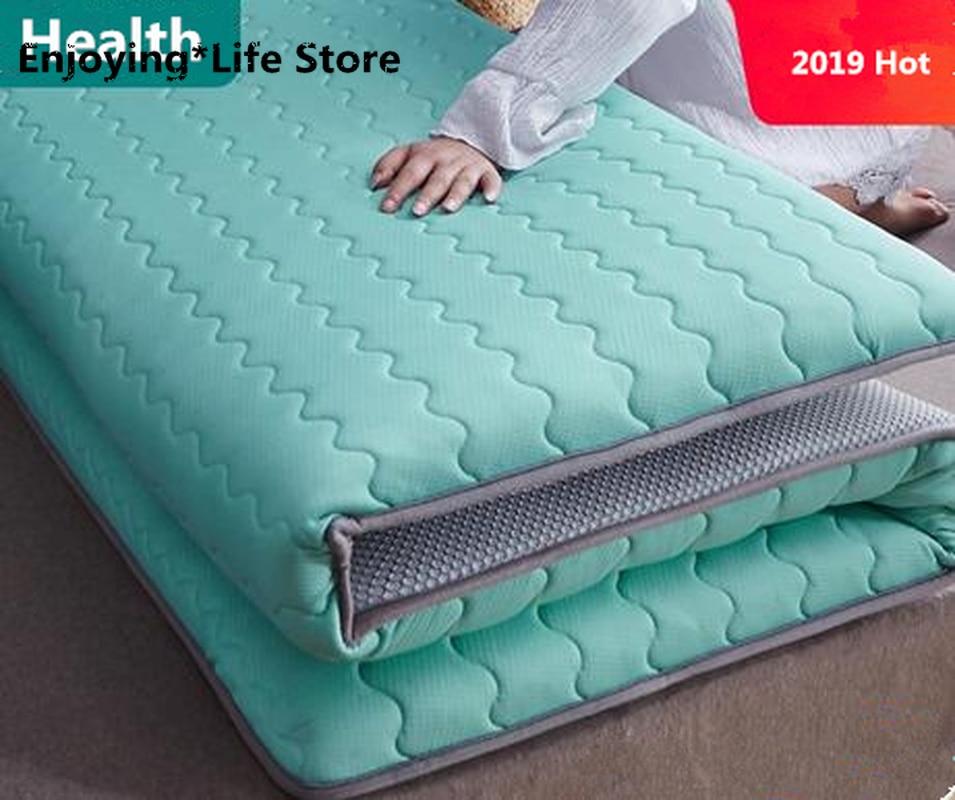 Thickness 6cm/10cm Latex Mattress Folding Mattress Memory Cotton For Queen/King /Twin/Full Size Bed Breathe Foam Tatami Mattress