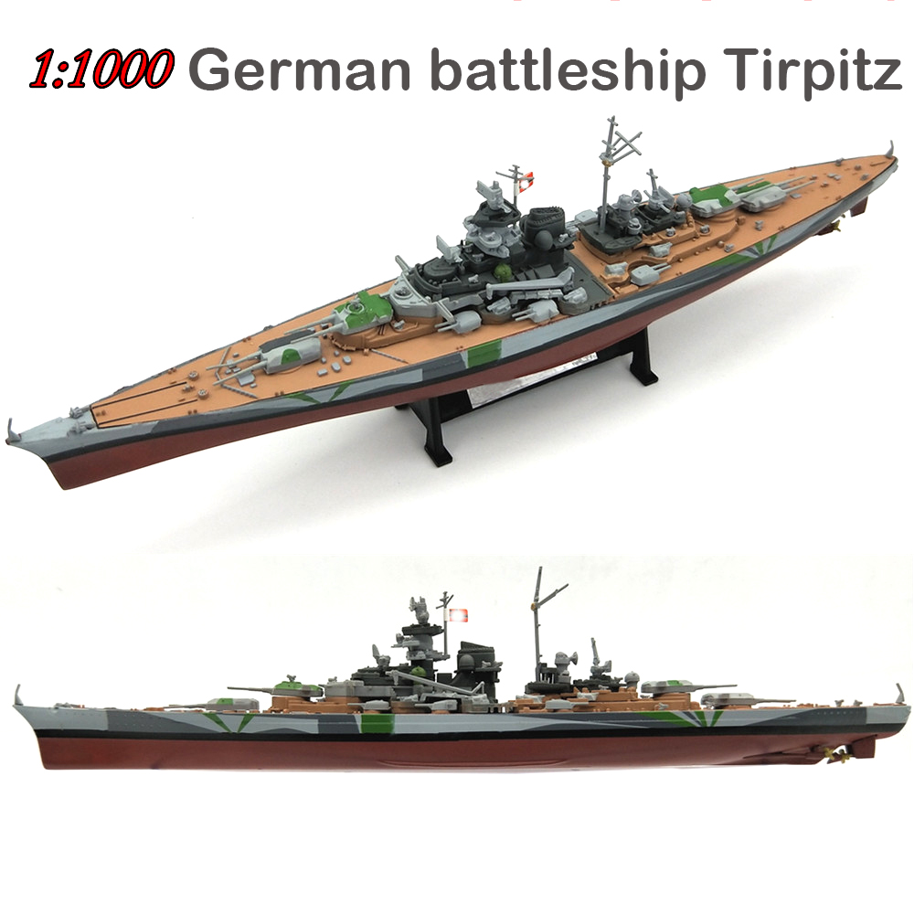Super Value 1:1000  German Battleship Tirpitz  Alloy Model  Finished Warship Decorations