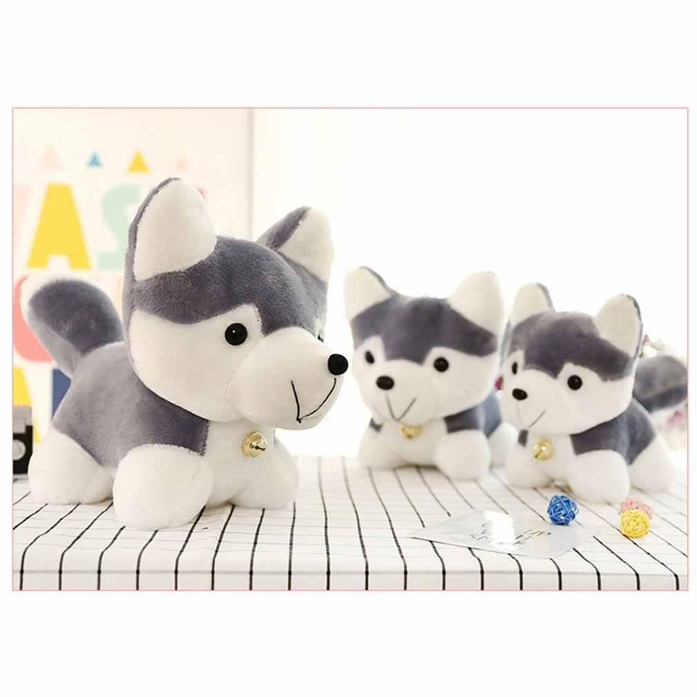 Super Cute Husky Mainan Mewah Simulasi Anjing Bayi Tidur Menenangkan Boneka Anak-anak Ulang Tahun Hadiah Natal Mainan untuk Anak Grosir