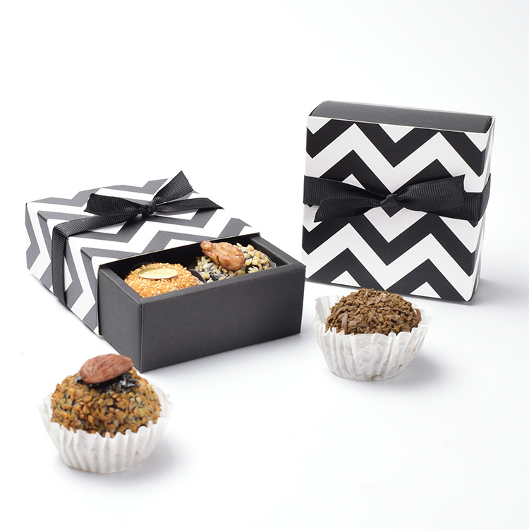 50 pièces tiroir boîte emballage noir petit papier cadeau boîte bijoux cosmétique alimentaire bonbons bonbons chocolat mariage faveur boîtes Kraft