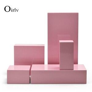 Oirlv новый продукт розовый ювелирный дисплей Настольный набор деревянное кольцо браслет дисплей стенд серьги подвеска держатель коробка дл...