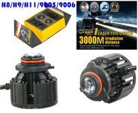 2PCS L1 LED Laser Front Fog Headlight Car Lights Bulbs Lamps H8 H9 H11 H10 9005 9006 26W 2600LM 3000M Meter Irradiation Distance