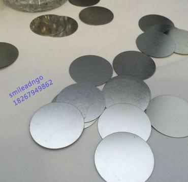 Non-magnetic Packaging Box For Round Iron Disc Diameter 28*0.2mm Bright On Both Sides Of Packing Box Fittings