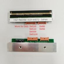 Cabeça de impressão térmica para digi sm100 sm100pces sm300 dois portos sm5100 sm5300 sm110 sm80 sm90 escala p/n: zs44012490968800