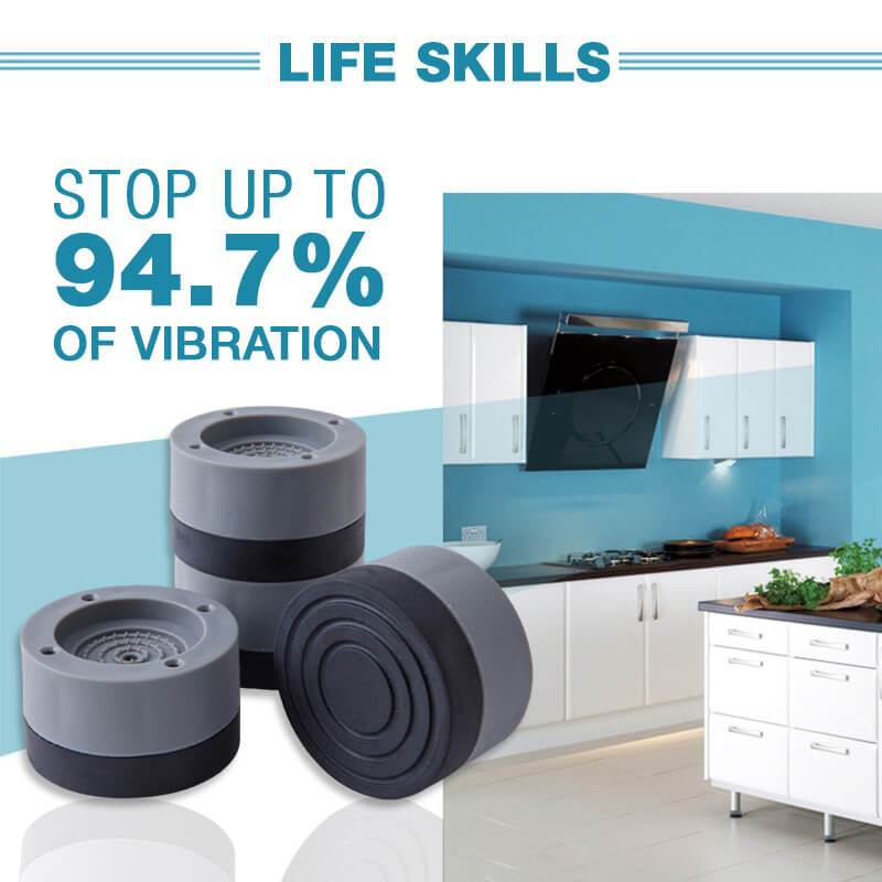 Anti-slip And Noise-Reducing Washing Machine Feet Vibration Pads Heavy Duty Dryer Furniture Non Slip Antivibration Floor Protect 1