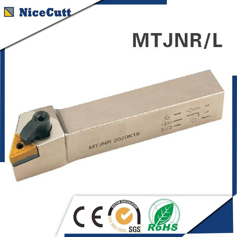 Free Shipping External Turning Tool Holder MTJNR Lathe Cutter MTJNR/L 1616H16/2020K16/2525M16 For Turning Insert TNMG Nicecutt