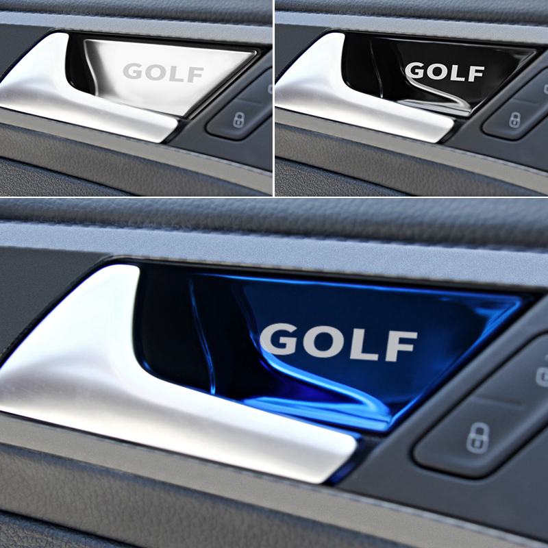 Car-styling For Volkswagen VW Golf 7 Mk7 Door Handle Bowl Carbon Fiber Trim Stickers Covers Accessor
