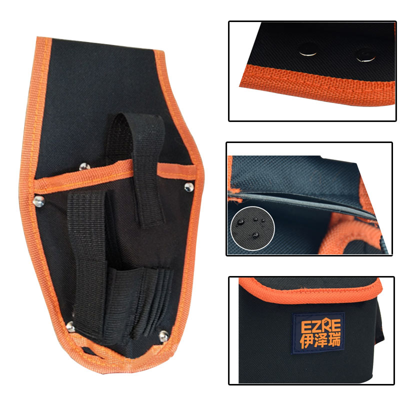 Hanging Bag Aerial Work  Toolkit Labor Electrician Leather Pockets Waist Hanging Tool Bag 1pcs
