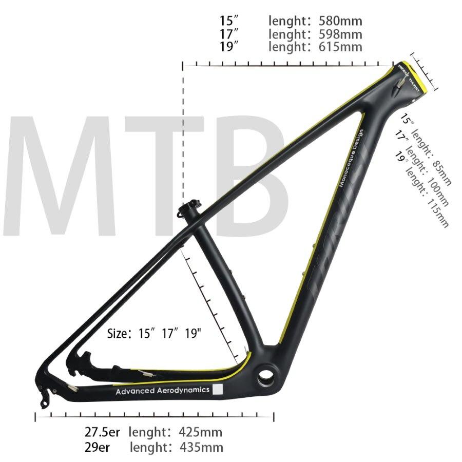Impulso quadro de carbono 29er 15 17 19 carbono mtb quadro 29 er bsa bb30 bicicleta quadro carga máxima 250kg 2 ano garantia 18 cores