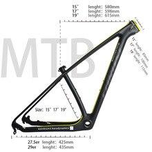 Thrust quadro de bicicleta feito em carbono, carga máxima de 250, 29er, 15/17/19, bsa bb30 kg 2 anos de garantia 12 cores
