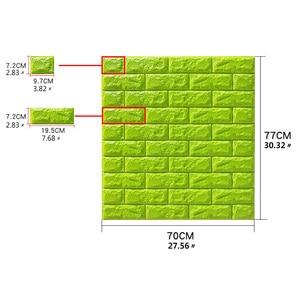Image 2 - 3D壁のステッカーの自己粘着レンガ 3panelsリビングルームのインテリア防水壁紙キッチンテレビの背景ホーム