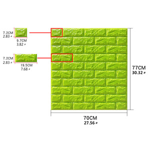 Image 2 - 3D Wall Stickers Self adhesive Brick Panels Living Room Decoration Bedroom Decor Waterproof Wallpaper Kitchen TV Backdrop Home