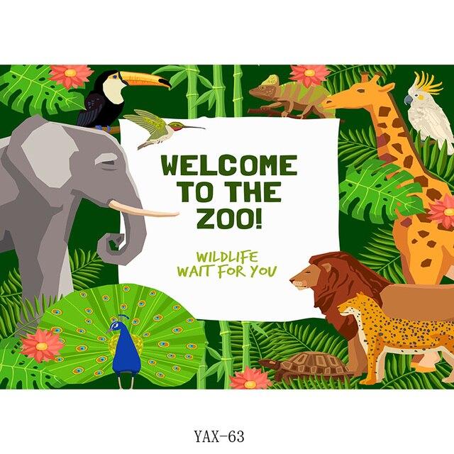 shengyongbao дети день рождения фоны мультфильм животные зоопарк фотография