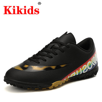 Kid Shoes Outdoor Men Boys Soccer TF/FG Football Boots High Ankle Kids Cleats Training Sport Sneakers Size 32-44