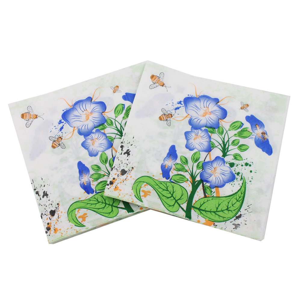 [Currently Available] New Products Listed Trumpet Flower Pattern Napkin Color Printed Napkin