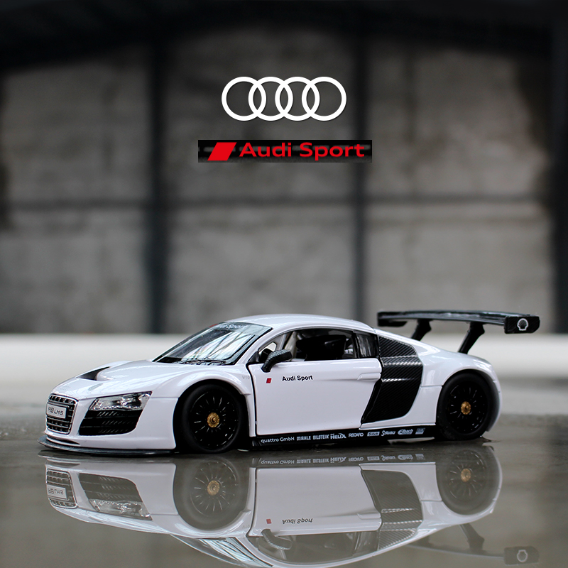 RASTAR 1:24 Audi R8 alloy car model Diecasts & Toy Vehicles Collect gifts Non-remote control type transport toy