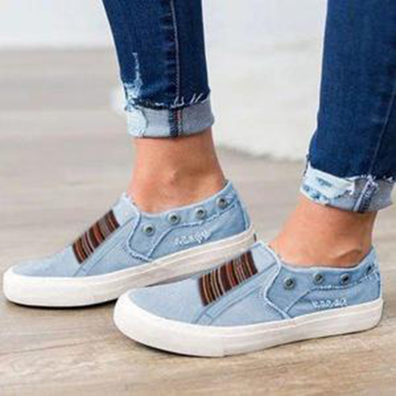 Women Canvas Loafers Shoes Flats Fashion Casual Jeans Shoes Girl Classic Soft Flats Soles Students Spring Canvas Shoes Lady in Women 39 s Flats from Shoes