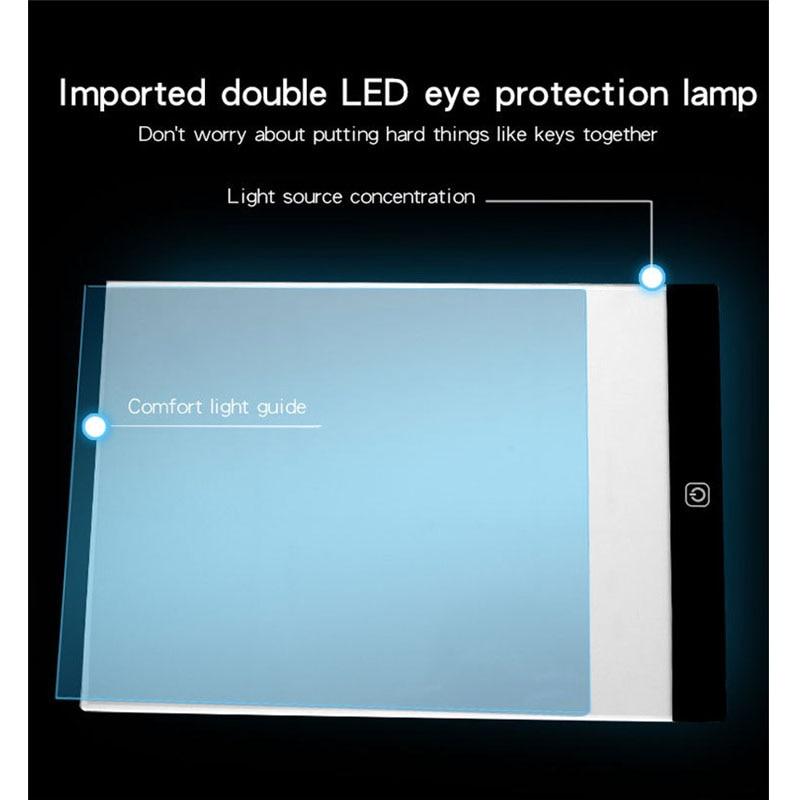 3-niveau dimbare LED-tekening kopiëren pad bord voor baby A5-formaat - Leren en onderwijs - Foto 2