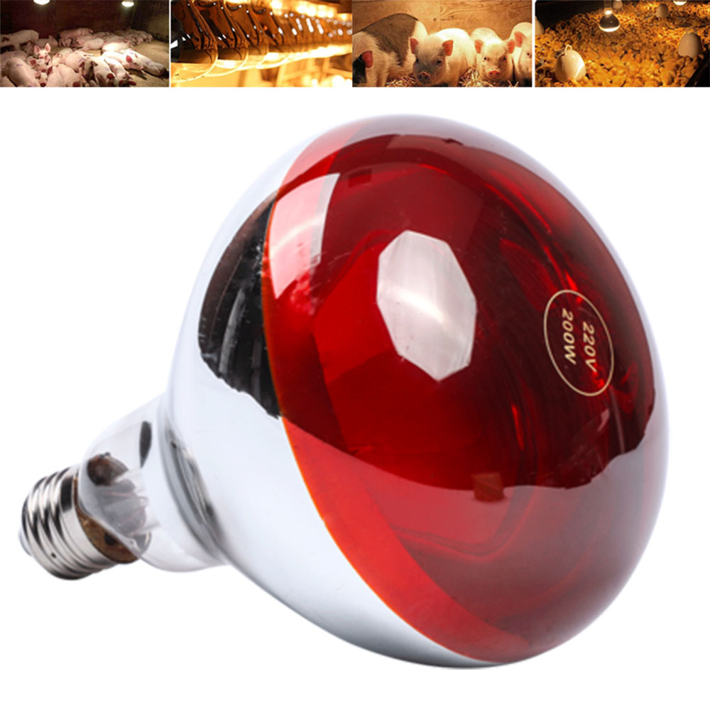 100/150/200/250W Pet Heating Lamp E27 Smart LED Light Amphibian Snake Poultry Heat Lamp Reptile Infrared Bulb Light 110V-240V
