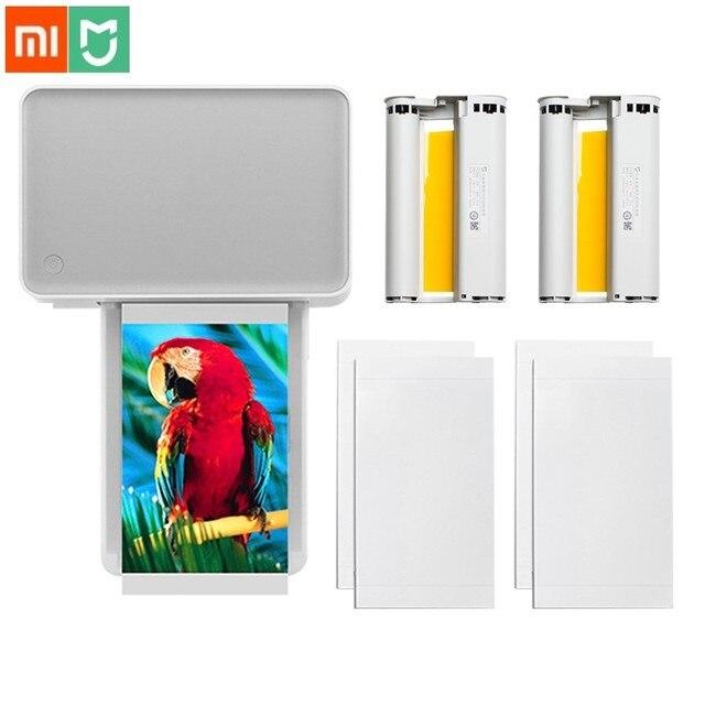 Xiaomi Mijia Mi Photo Printer 6 inch Heat Sublimation Finely Restore True Color Auto Multiple Wireless Remote Portable printer