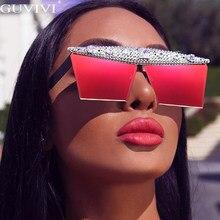 Lunettes de soleil style carré diamant et rétro, une pièce, Steampunk, lunettes de soleil strass, surdimensionnées, 2020, lunettes pour hommes