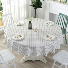 Pvc round tablecloth, waterproof anti-scalding oil-proof disposable, home hotel tablecloth