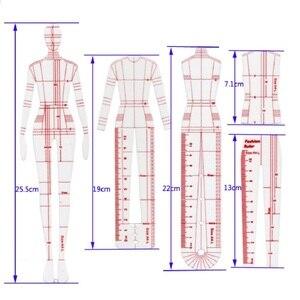 Image 5 - Frauen Mode Design Lineal Frauen Tuch Original Menschlichen Körper Modell Weibliche Figur Vorlage Herrscher Geeignet für A4 Papier Design
